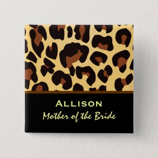 Mother of the Bride Leopard Print Custom Name