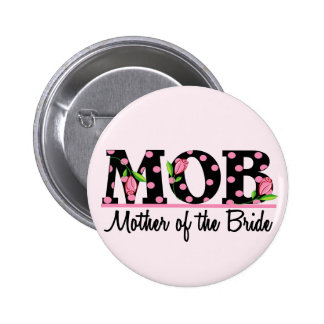 Mother of the Bride (MOD) Tulip Lettering 6 Cm Round Badge