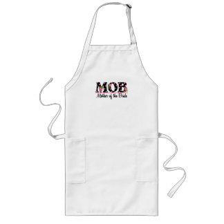 Mother of the Bride MOD Tulip Lettering Aprons