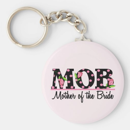 Mother of the Bride (MOD) Tulip Lettering Keychains