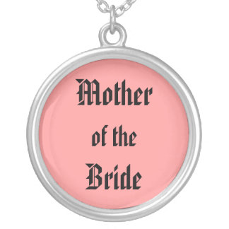 Mother of the Bride Round Pendant Necklace