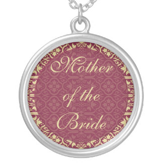 Mother of the Bride Necklace - Damask Wedding