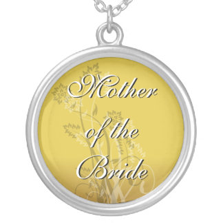 Mother of the Bride Necklace Gold Floral Wedding