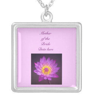 Mother of the Bride Necklace - Purple Lotus Flower