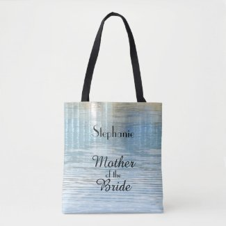 Mother of the Bride Personalised Abstract Water Tote Bag
