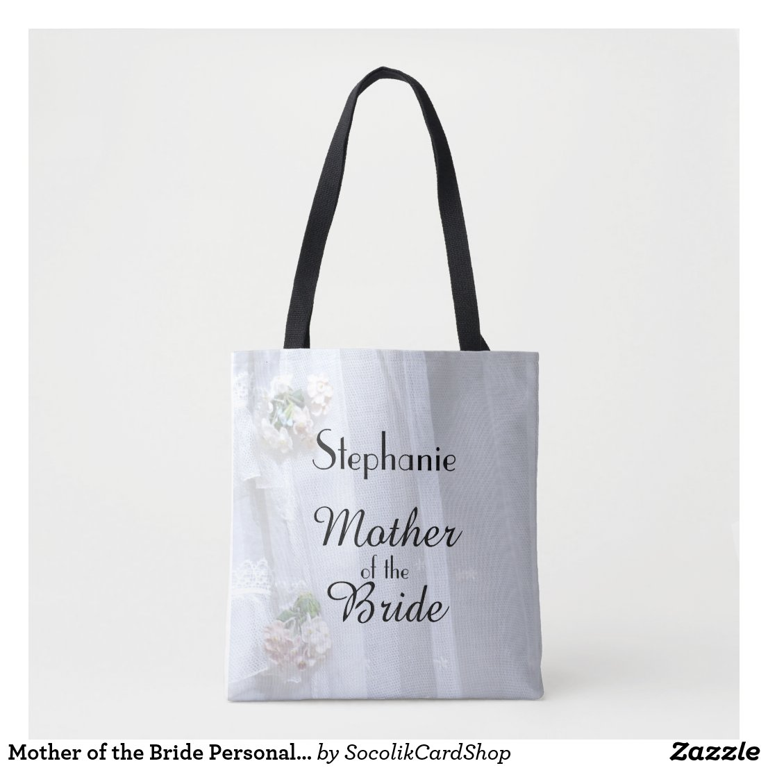 Mother of the Bride Personalised Faux Vintage Lace Tote Bag