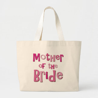 Mother of the Bride Pink Brown Jumbo Tote Bag