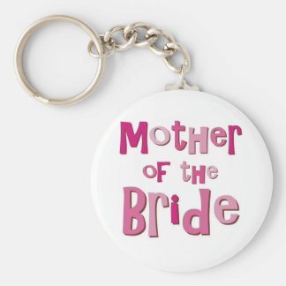 Mother of the Bride Pink Brown Key Ring