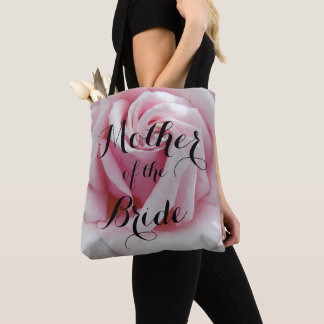 Mother of the Bride Pink Rose Bloom Tote Bag