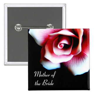 Mother of the Bride Pink Rose I D Button
