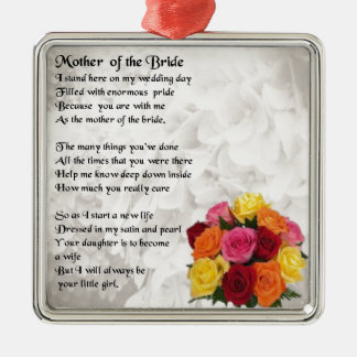 Mother of the Bride Poem  - Flowers Christmas Ornament