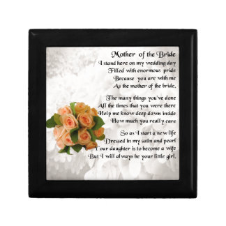 Mother of the Bride Poem  -  Peach Roses Gift Box