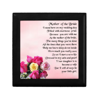 Mother of the Bride Poem -  Roses Gift Box