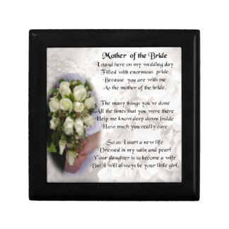 Mother of the Bride Poem - Wedding Bouquet 2 Small Square Gift Box