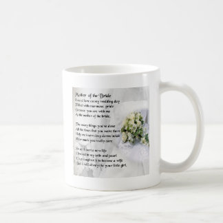 Mother of the Bride Poem   Wedding Bouquet Design Coffee Mug