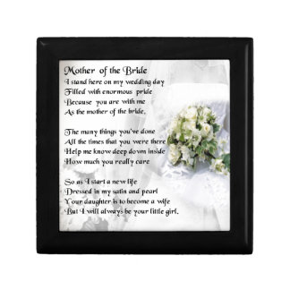 Mother of the Bride Poem   Wedding Bouquet Design Gift Box