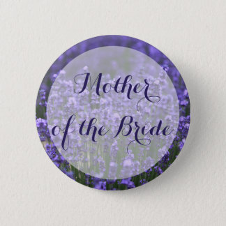 Mother of the Bride Purple Lavender Wedding Button