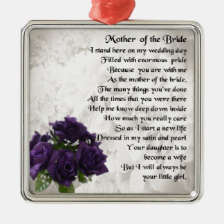Mother of the Bride  -  Purple Roses Christmas Ornament