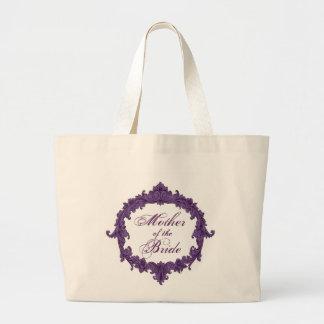 Mother of the Bride PURPLE Vintage Frame Jumbo Tote Bag