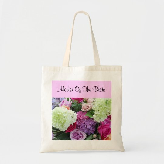 Mother of the Bride Rose Hydrangea Wedding Flowers Tote Bag