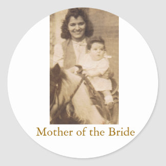 Mother of the Bride Round Sticker