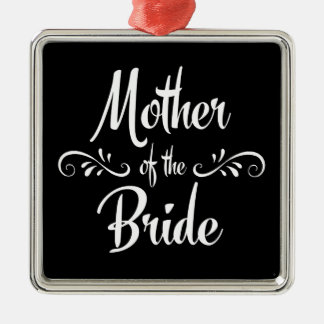 Mother of the Bride Silver-Colored Square Decoration