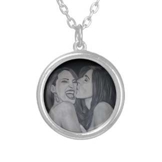 Mother of the bride silver plated necklace