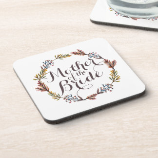 Mother of the Bride Simple Floral Wedding Coaster