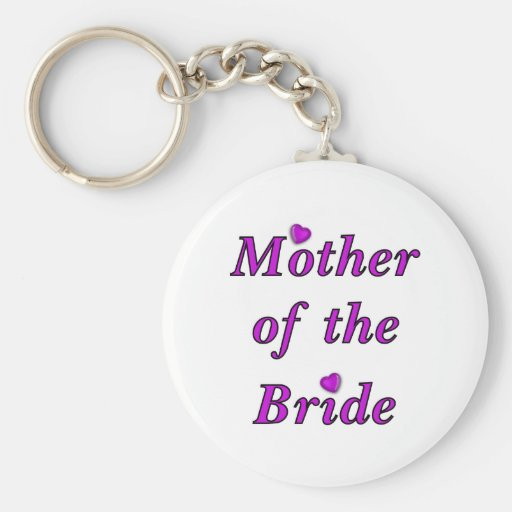 Mother of the Bride Simply Love Basic Round Button Key Ring