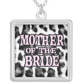 Mother of the Bride Square Pendant Necklace