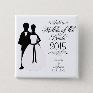 Mother of the bride swirls wedding favor button