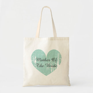 Mother of the bride tote bag with turquoise heart