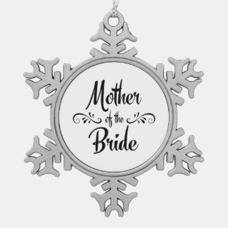 Mother of the Bride Vintage Style Pewter Snowflake Decoration