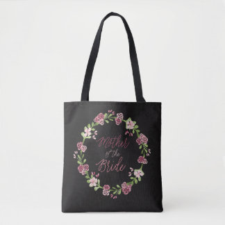 Mother of the Bride Watercolor Wreath Bag