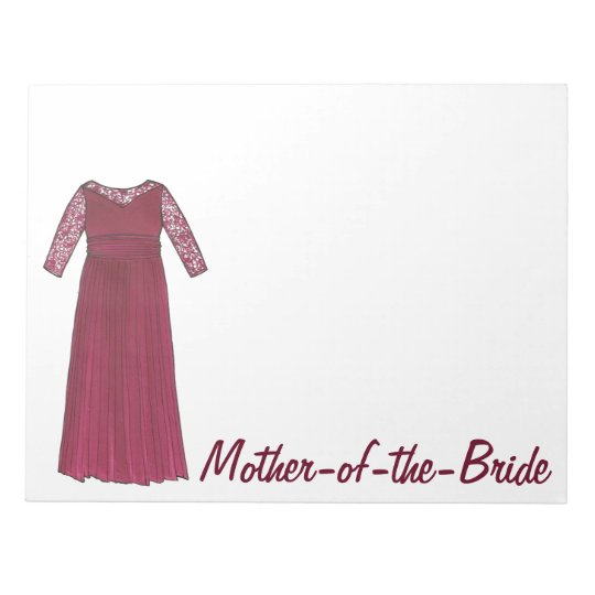 Mother of the Bride Wedding Bridal Party Notepad