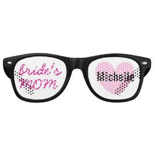 2c177b7048 Mother of the Bride Wedding Favor Black Pink A04 Retro Sunglasses