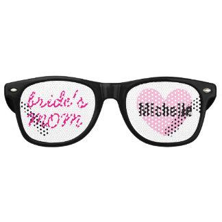 Mother of the Bride Wedding Favor Black Pink A04 Retro Sunglasses