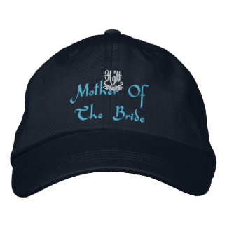 Mother Of The Bride Wedding I Navy Embroidered Hat
