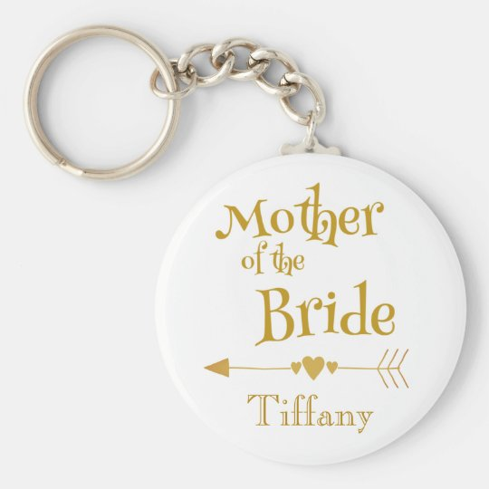 Mother of the Bride Wedding Memory Key Ring