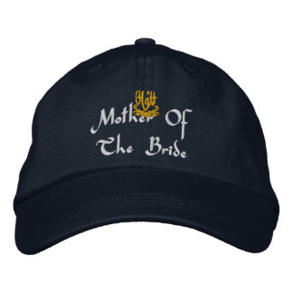 Mother Of The Bride Wedding Navy Embroidered Hat