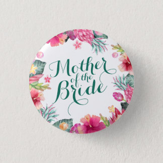 Mother of the Bride Wedding Pin Button