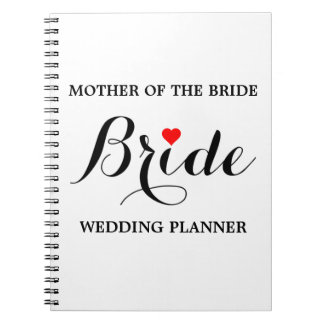 Mother of the Bride Wedding Planner Notebook Wht