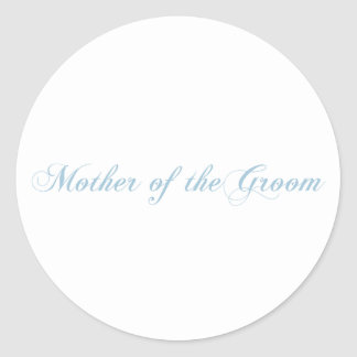 Mother of the Groom Aquamarine Round Sticker
