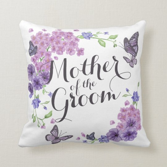 Mother of the Groom Butterflies Wedding Pillow