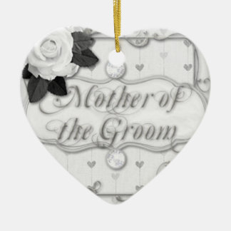 mother of the groom ceramic heart decoration