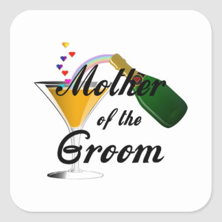 Mother of the Groom Champagne Toast Square Sticker
