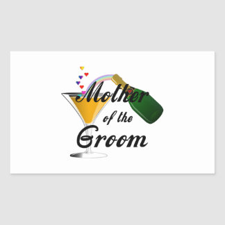 Mother of the Groom Champagne Toast Stickers