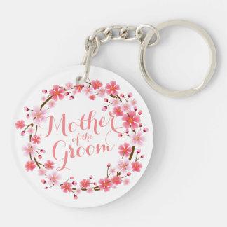 Mother of the Groom Cherry Blossom Wedding Keychai Key Ring