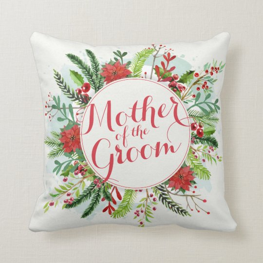 Mother of the Groom Christmas Wedding  Pillow