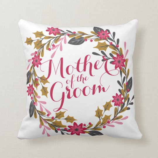 Mother of the Groom Christmas Wedding  Pillow